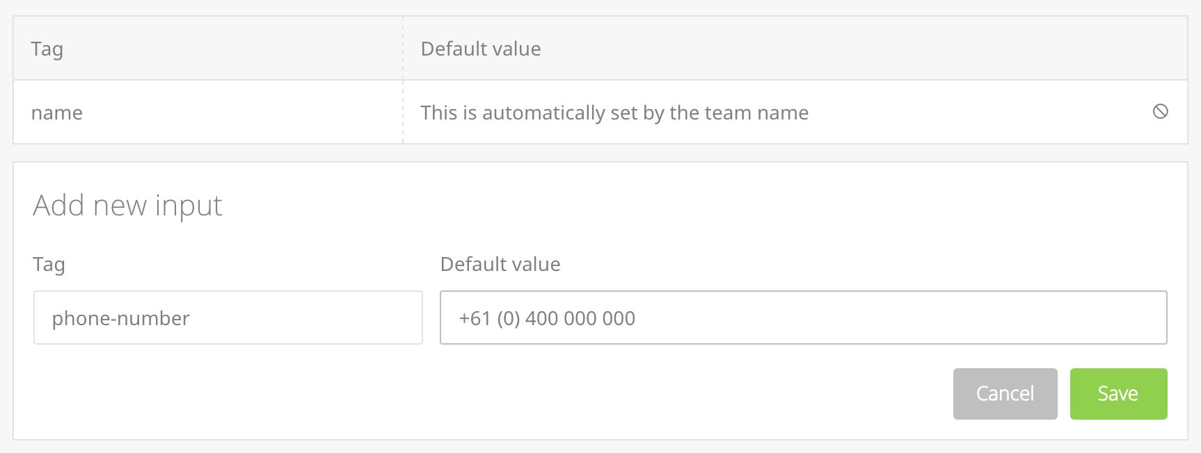 smart input adding