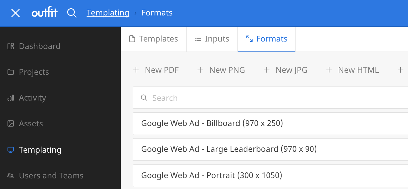 new formats